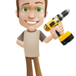 Vector_Man_holding_a_Drill